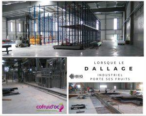 dallage industriel entrepôt